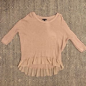 Worn Once AE SM 3/4 Sleeve High Low Sweater